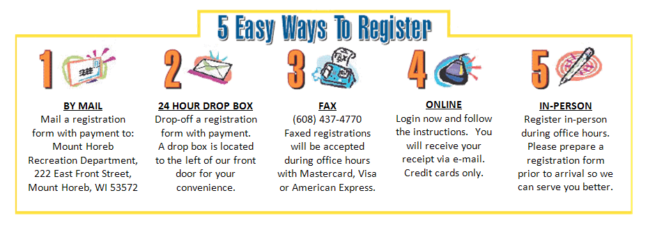 5 ways to register